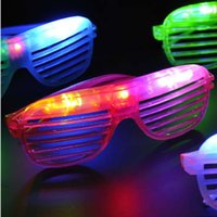 Halloween   New Blinking LED Shutter Eye glasses Party Light Up Flashing Novelty Gift LED Flashing Light Up Glasses Halloween toy Christmas Party supply