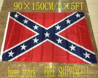 Wholesale MOQ ft cm cm Confederate Rebel Civil War Flag Two Sides Printed National Polyester Flag Dixie Flag