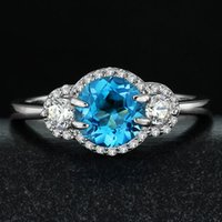 aquamarine gemstone rings - Silver AAAA popular natural aquamarine topaz tourmaline gemstone rings jewelry