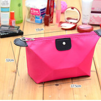 Wholesale Travel Make Up Cosmetic Pouch Storage Holder Case Hand Bag Clutch Handbag Lady Casual Purse Waterproof