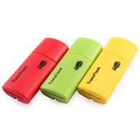 Wholesale Portable USB2 Card Reader Yellow