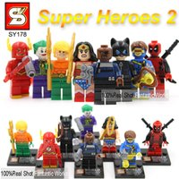 Wholesale DC Justice League SY178 VS decool Minifigure Building Blocks Minifigures Toy Super Heroes The Flash Deadpool Catwoman The Joker