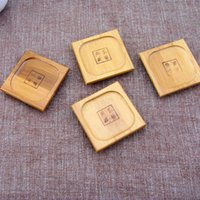 Wholesale Bamboo Insulating Cup Pads Square Cup Mats cm