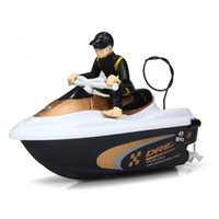 Wholesale Cool HUIQI HQ2011 Mini MHz RC Racing Boat Speed Yacht Bathtub Water Playing Toy