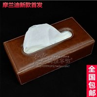 Wholesale Mo Landi high speed high grade leather car tissue box tray pumping creative car car tissue PACKER Post