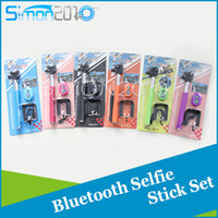 Wholesale Selfie stick monopod bluetooth in Self Timer and Extendable Handheld Shutter Camera Remote Controller Self portrait set