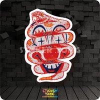 snake skateboard - CLOWN SNAKE STICKER bike skateboard deck notebook laptop car wall