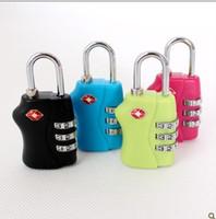 Wholesale DHL Customs Luggage Padlock TSA338 Resettable Digit Combination Padlock Suitcase Travel Lock TSA locks