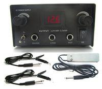 Wholesale BJT High quality black Digital Dual iron Steel Tattoo Power Supply foot pedal talon clip cord