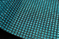 Wholesale 5Yards Turquoise quot Wedding Diamond Mesh Wrap Roll Sparkle Rhinestone Crystal Looking Ribbon Party Christmas Decor