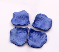 Wholesale Hot Blue Rose Petals Hand Sprinkle Flower Wedding Decorate Get married Supplies