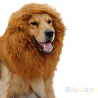 festival clothing - Cool Large Pet Dog Cat Lion Wigs Mane Hair Product Festival Party Fancy Dress Clothes Costume Accessories C