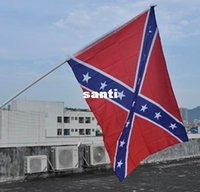 Wholesale New Arrive Two Sides Printed National Polyester Flag Confederate Rebel Civil War Flag