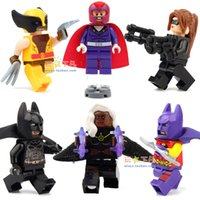 Wholesale Christmas Gift No Box X Men Super Hero Avenger Wolverine Catwoman Storm Magneto Mini Figure Building Blocks Free Ship
