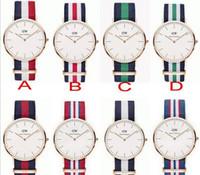 acrylic custom design - Custom Design Print Logo Luxury sports DW Watches Men Nylon Strap Military Quartz Watches watches for mens Clock Relojes relogio masculino
