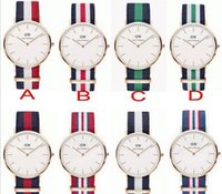 Wholesale Top Brand Luxury sports DW Watches Men Nylon Strap Military Quartz Watches watches for mens Clock Relojes relogio masculino