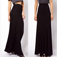 Cheap 2015 HOT Women Women High Waist Stretchy Long Maxi Skirt Sexy Full Length Modal Cotton Skirt