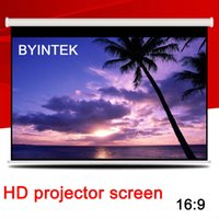 Wholesale Cheapest Glass Beaded Home Cinema inch Self Locking Manual Pull Down Video Projection Screen Factory HD
