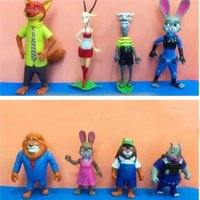 Wholesale EMS New Cartoon Zootopia Action Figures Toys Gifts Set Movies Anime Accessories Children Kids Birthday Gifts Set PVC Dolls SZ T04