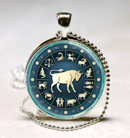 aries gemstones - Zodiac Aries Pendant Astrological Sign The Ram Jewelry Aries Astrological Symbol statement pendant art glass gemstone necklace