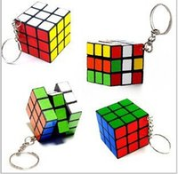 Wholesale 18 OFF In Stock New Classic Toys Keychain Rubik s cube x3x3cm Puzzle Magic Game Toy Key Keychain Adult Children Educational Toys