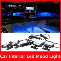 Wholesale Fashion x LED Blue Car Auto Charge interior light in1 V Glow Decorative Atmosphere Lights Lamp