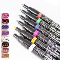 Wholesale Hot Candy Color Non Toxic Nail Polish Nail Gel Polish Pen Nail Art Accessories Dotted Pen for Nail Colors