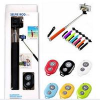 Wholesale Selfie Monopod Bluetooth Z07 Extendable Handheld selfie sticks Photo Bluetooth Shutter Camera Remote Control monpod shutter clip pc
