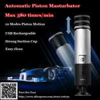 Wholesale Auto Male Masturbators Leten Piston Retractable Masturbation Cup Rechargeable Hands Free Masturbatory Machine Sex Toys for Man