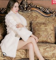 Wholesale Fox collars Ms long rabbit hair in a fur coat The new fashion women fur coat
