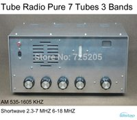 bass tube speaker - Tube AM SW Radio Pure Tubes Bands Radio AM KHZ SW2 MHZ Amplifier Metal Casing Bass Tremble inch Speaker