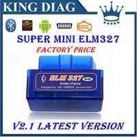Wholesale 2014 Wholesales OBD2 OBDII scanner ELM car diagnostic interface scanner tool Super mini ELM327 bluetooth