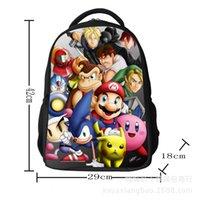 Wholesale Hot Sell Children s Super Mario Bros Cartoon Backpacks Schoolbags Kids Boys Girls Cartoon School bag backpack