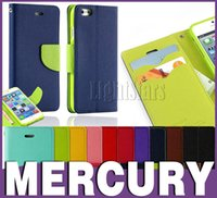 iphone 5 flip case - For S6 Case Iphone Cases Mercury Wallet PU Leather Flip Case With Stand Holder Card Slot For iphone S Samsung S5 S4 S3 Note Note