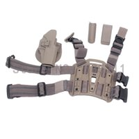 Cheap leg holster Tactical Thigh Holster System for glock 17 - TAN