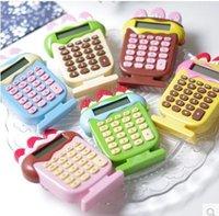 Wholesale Pieces calculadora sorvete ice cream calculator Cute Strawberry Cartoon Kawaii calculator school supplies X7CM g calculadora