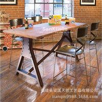 bar tables and stools - American Bar table and chairs table retro bar stools iron leisure furniture minimalist desk highchair