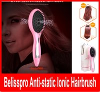 anti static hairbrush - Belisspro Anti static Ionic Hairbrush Electric Power Tangle Comb Anion Ultimate Hair Brush Professional Battery Power