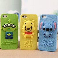 winnie the pooh s4 - Cartoon D Stitch Winnie The Pooh Three Eyes Alien Silicone Back Cover For iPhone S S Plus Case For Samsung Galaxy S3 S4 S5 Note