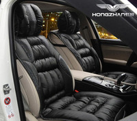 Wholesale Rainbow exhibition quality ostrich feather car seat cushion new winter seasons herbal health car seat