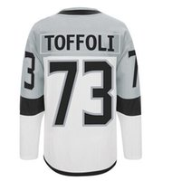 cod - Drop shiping Tyler Toffoli Jersey stitched Los Angeles newest Stadium Series white signed COD hockey Jersey