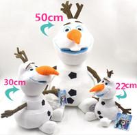 Wholesale New Frozen olaf New Arrival Cartoon Movie Frozen Olaf Plush Toys For Sale cm cm cm Cotton Stuffed Dolls