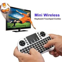 Wholesale Rii Mini i8 Touchpad G Original Mini Bluetooth Wireless Keyboard gaming Fly Air Mouse For Android TV BOX Game Keyboard Mouse