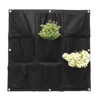 Wholesale Indoor outdoor Large Pocket Balcony Flower Planter Hanging Recycled PET