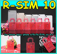 Wholesale Original R SIM RSIM10 R SIM10 Perfect SIM Card Unlock Official IOS x x RSIM for iphone plus I6 S C S GSM CDMA WCDMA G G