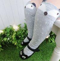 knee pads for kids - MOQ brand new baby knee high fox socks animal baby leg warmers girl legging socks knee pads for baby cotton kids long socks