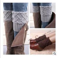 boot socks - Hot winter leg warmers Women boot cuff Short Flanging Leg Warmers Knitted Leg Warmers Foot socks boot cuff knit leg warmer m0294