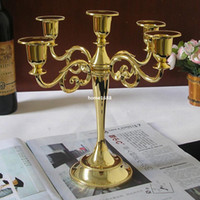 candelabras - 5 arm metal gold silver candelabra candelabrum candle holder set stand candlesticks for wedding home decoration