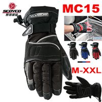 Wholesale 2016 New waterproof SCOYCO MC15 MOTO racing gloves D Nylon Motorcycle Riding gloves motorbike glove colors size