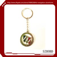 Wholesale 10pcs Car Accessories gift Metal buick car logo Keychain Keyrings buick Key Chain key ring